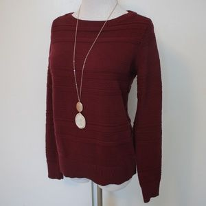 ANN TAYLOR LOFT Size Small Sweater Burgundy